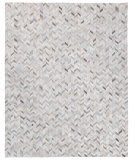 Exquisite Rugs Natural Hair On Hide 4062 Silver Area Rug
