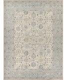 Exquisite Rugs Beckham Hand Knotted 4231 Ivory - Light Blue - Multi Area Rug