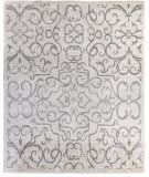 Exquisite Rugs Bamboo Silk Hand Knotted 5005 Ivory - Light Gray Area Rug