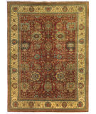 Exquisite Rugs Fine Serapi Hand Knotted 5019 Rust - Light Gold Area Rug