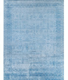 Exquisite Rugs Antique'd Silk Hand Knotted 5171 Ivory - Aqua Area Rug