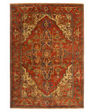 Exquisite Rugs Serapi Hand Knotted 7045 Red Area Rug