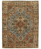 Exquisite Rugs Serapi Hand Knotted 7051 Light Blue - Ivory Area Rug