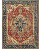 Exquisite Rugs Serapi Hand Knotted 7053 Red - Blue Area Rug