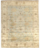 Exquisite Rugs Oushak Hand Knotted 8000 Ivory - Blue Area Rug