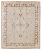 Exquisite Rugs Oushak Hand Knotted 8003 Gray - Brown Area Rug