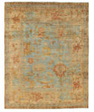 Exquisite Rugs Oushak Hand Knotted 9161 Dark Blue - Beige Area Rug