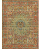 Exquisite Rugs Mamluk Hand Knotted 9404 Green - Light Blue Area Rug