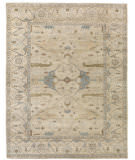 Exquisite Rugs Oushak Hand Knotted 9492 Ivory - Blue Area Rug