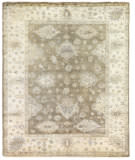 Exquisite Rugs Oushak Hand Knotted 9498 Brown - Ivory Area Rug