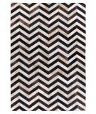 Exquisite Rugs Natural Hair on Hide 9763 White - Black Area Rug