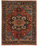 Exquisite Rugs Serapi Hand Knotted 9971 Red - Blue Area Rug