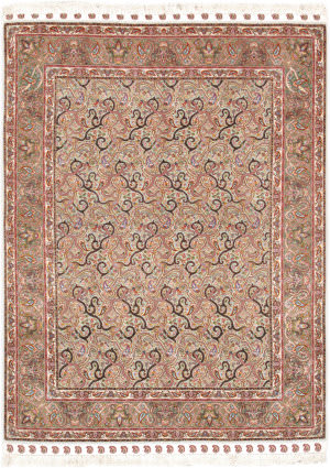 Famous Maker Tabriz 24900 Light Green - Green Area Rug