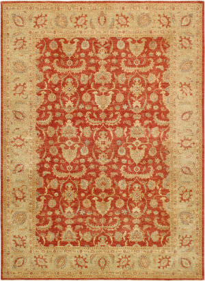Famous Maker Ferehan 34837 Rust - Green Area Rug