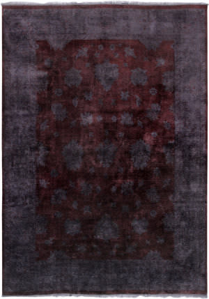 Famous Maker Overdyes 30779 Maroon - Charcoal Area Rug