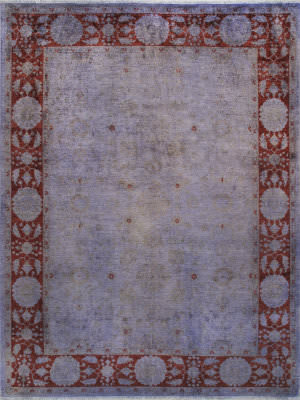 Famous Maker Overdyes 57992 Lavender - Maroon Area Rug