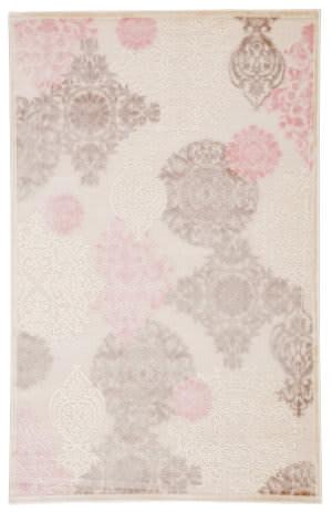 Famous Maker Fabiola Florence Fb-11800 Ivory - Pink Area Rug