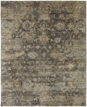 Famous Maker Oberon 100085 Smoky Brown Area Rug