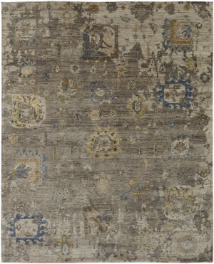 Famous Maker Obelia 100089 Heather Brown Area Rug