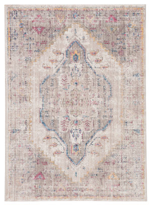 Famous Maker Ostia Saiph Ost-1060 Gray - Yellow Area Rug