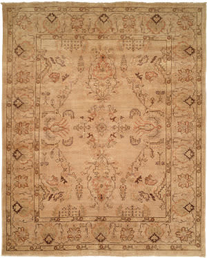 Famous Maker Oushak 520 Tan Area Rug