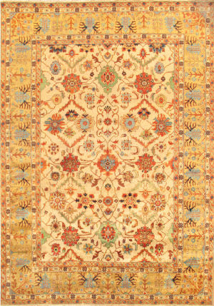 Famous Maker Mahal P-17 Ivory - Gold Area Rug