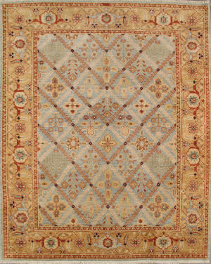 Famous Maker Nomad P-51 Light Blue - Camel Area Rug