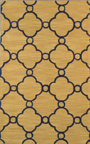 Famous Maker Transitional Pbw-820a Gold - Blue Area Rug