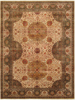 Famous Maker Crown Jewel Ph-260 Ivory Area Rug