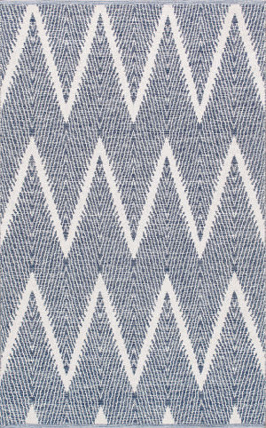 Famous Maker Simplicity Plw-06 Navy - Ivory Area Rug