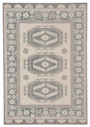 Famous Maker Polima Liam Pol-1110 Light Teal - Gray Area Rug
