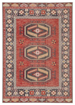 Famous Maker Polima Liam Pol-1120 Red - Yellow Area Rug