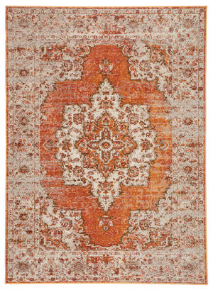 Famous Maker Pedrine Galena Prd-1070 Orange - Brown Area Rug