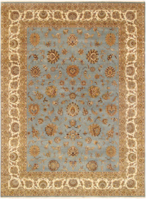 Famous Maker Tabriz Psl-25 Light Blue - Ivory Area Rug