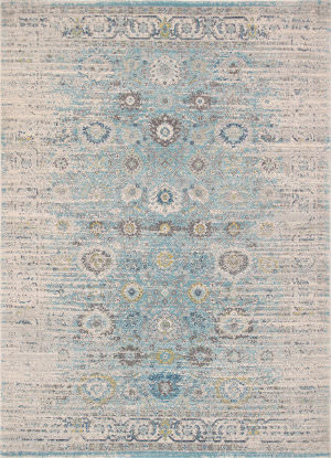 Famous Maker Chelsea Rc-5586bw Seafoam - Ivory Area Rug