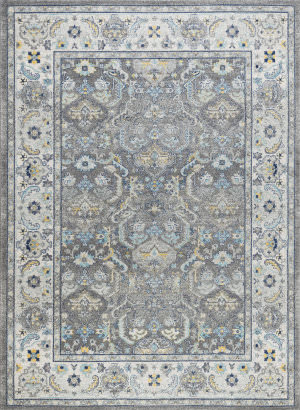 Famous Maker Chelsea Rc-5587gw Grey - Ivory Area Rug