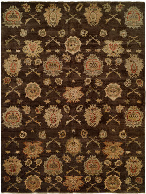 Famous Maker Royen 100783 Chocolate Area Rug