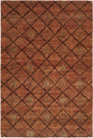 Famous Maker Royen 100735 Orange Area Rug
