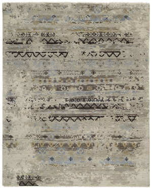 Famous Maker Taonga 100327 Greige Area Rug