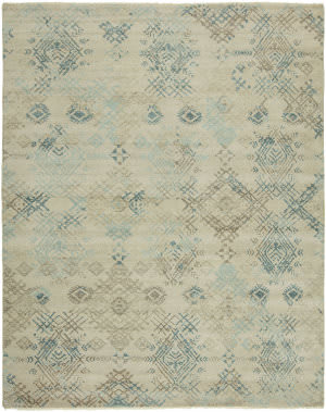 Famous Maker Taonga 100328 White Sands - Mineral Area Rug