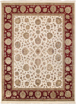 Famous Maker Agra P-580 Ivory - Red Area Rug