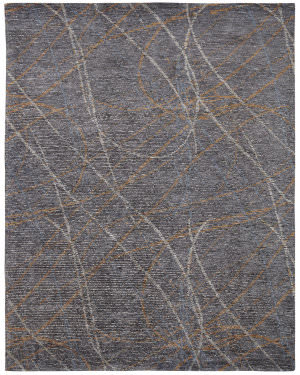 Famous Maker Vista 100609 Grey - Spice Swirl Area Rug