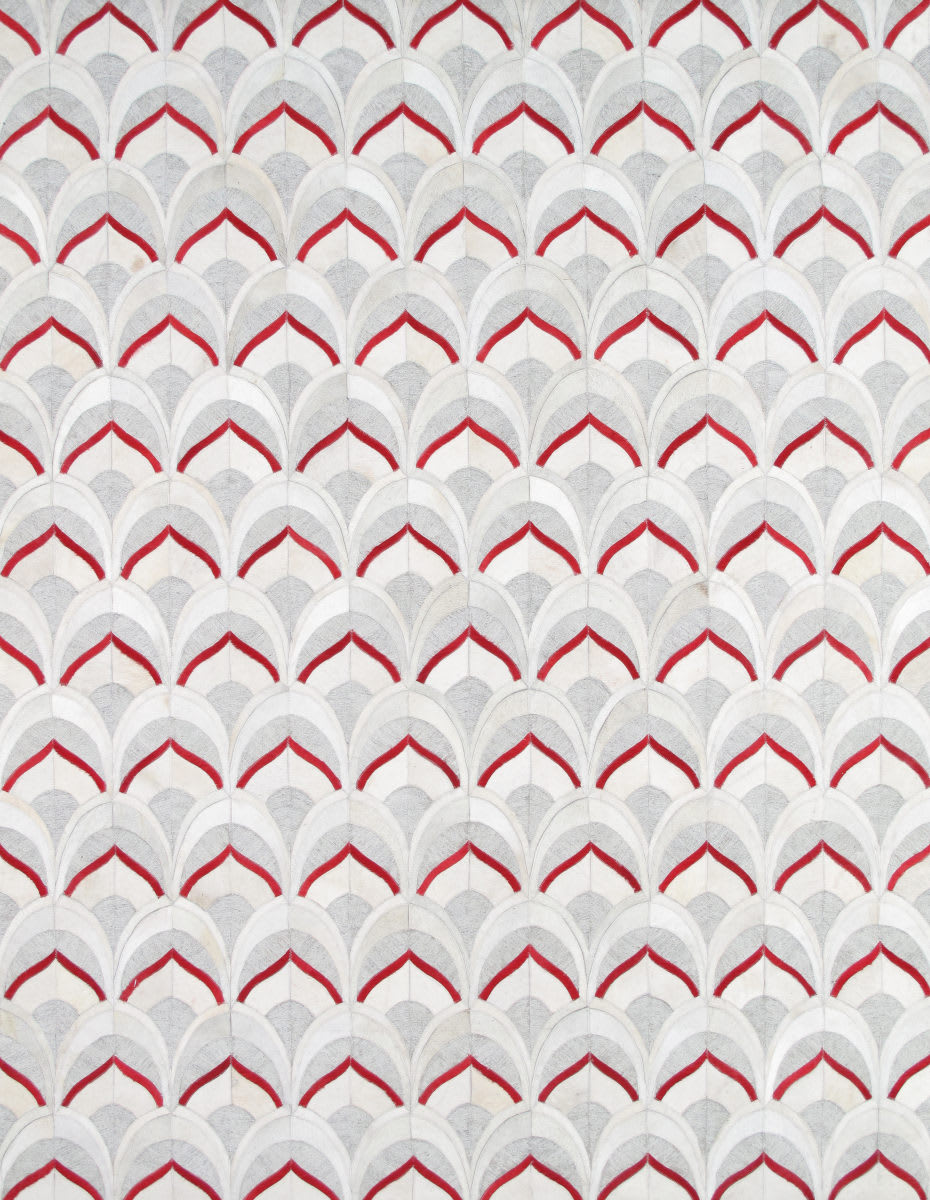 Famous Maker Galaxy Ptx-3520 Silver - Red   Rug Studio