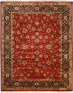 Kalaty Tabriz Tr-553 Red/Black Area Rug