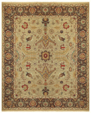Feizy Goshen 0637f Gold - Brown Area Rug