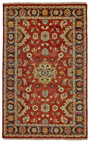 Feizy Ustad 6110f Red - Black Area Rug