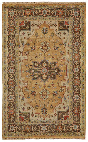 Feizy Ustad 6112f Gold - Brown Area Rug