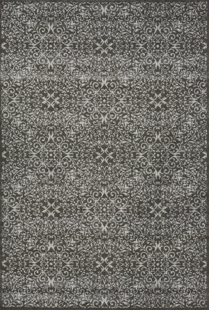 Rugstudio Sample Sale 99754R Dark Gray / Silver Area Rug