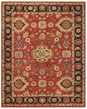 Famous Maker Juliet 44739 Red-Black Area Rug