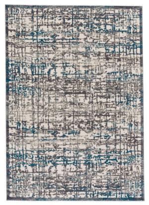 Feizy Akhari 3677f Gray - Turquoise Area Rug